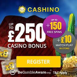 Click Here to go to Cashino Casino and Claim Your Bonus. Remember Terms and Cinditions apply